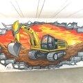 Particulier-graffiteur-buldozer-pelle-caterpillar-chantier-dessin-mur-casse-pelle-pelleteuse-web