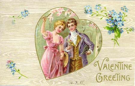 free-vintage-valentine-card-happy-couple-in-heart-with-forget-me-nots-wood-background1