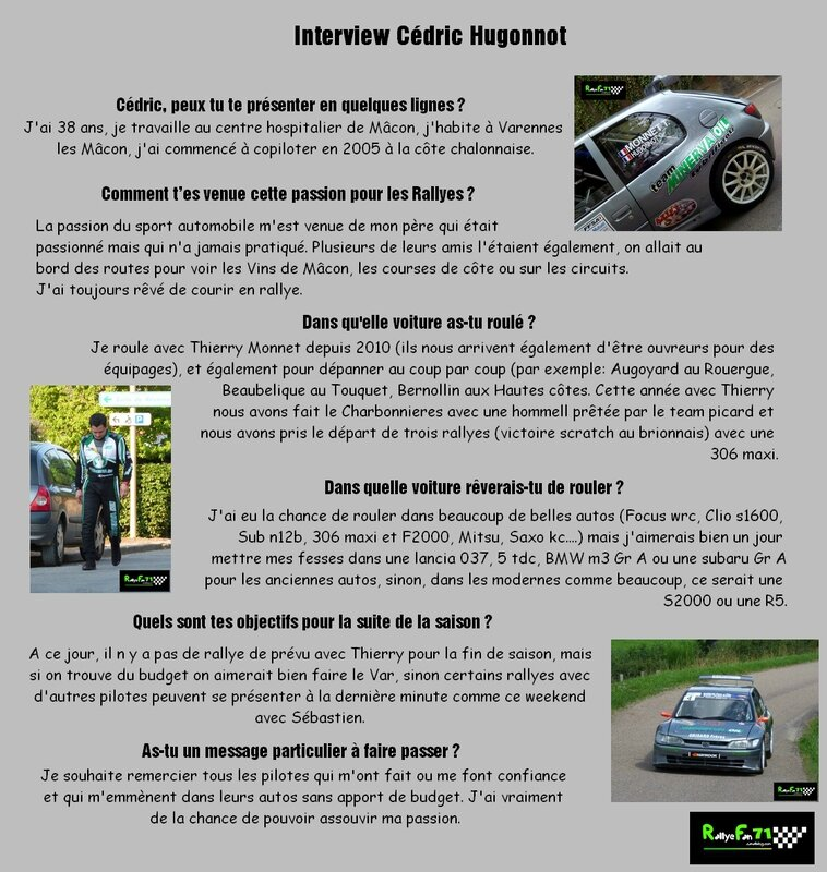 Interview Cédric Hugonnot