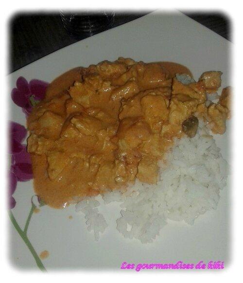 Emincés de poulet sauce mascarpone tomate au cookéo