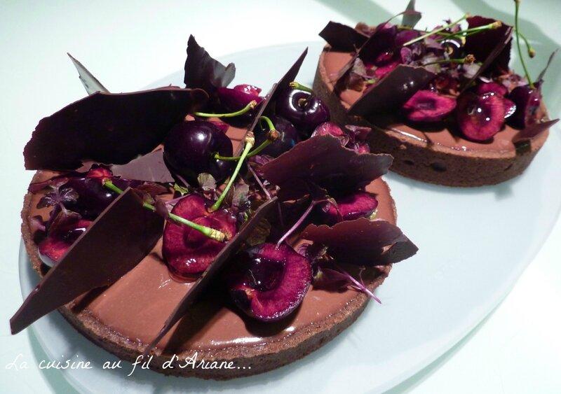tarte chocolat cerisepic