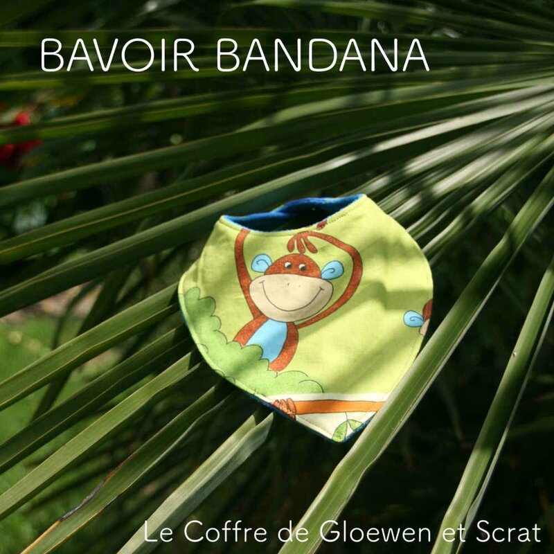 Bavoir bandana Jungle