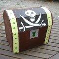 Pinata coffre de pirate (anniversaire de Nathan)