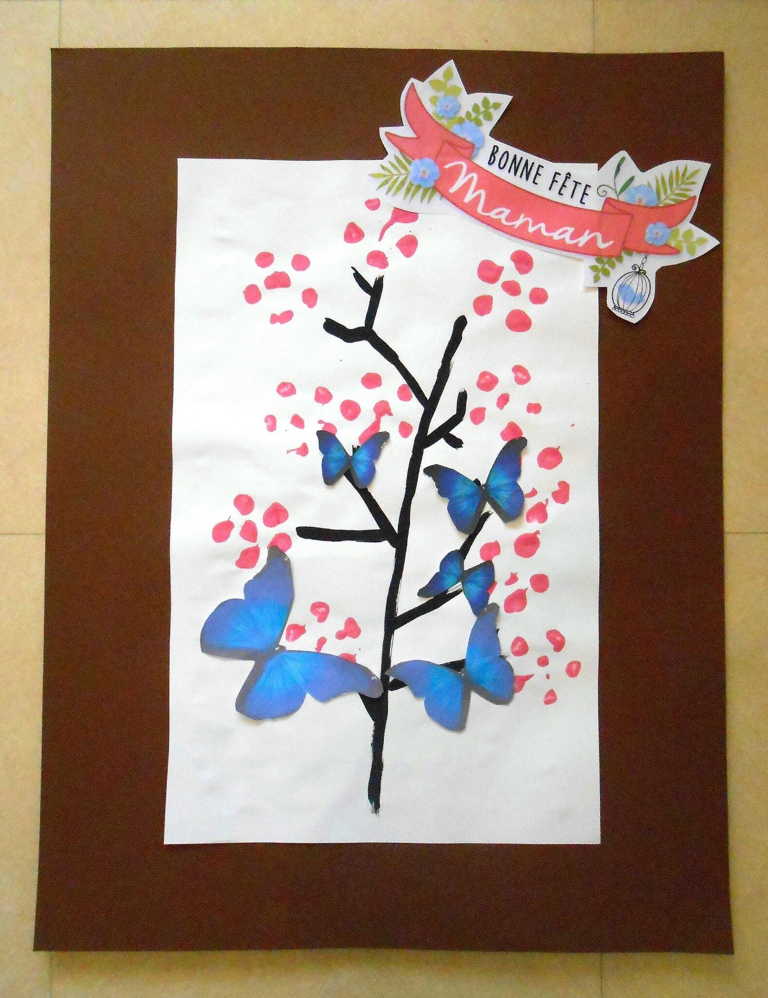 Tableau Le Cerisier En Empreintes Pour La Fête Des Mères La