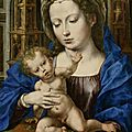 "World record price for jan gossaert's painting ""madonna and child"" at the swiss auction house koller"