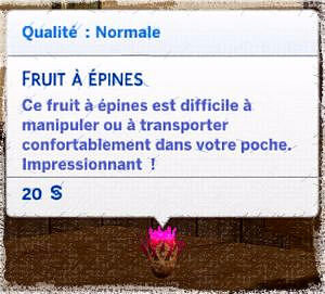 fruit à épines