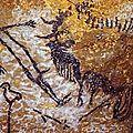 Homme terrassé par un bison Lascaux