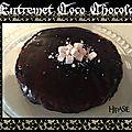 Entremet bounty: noix de coco-chocolat
