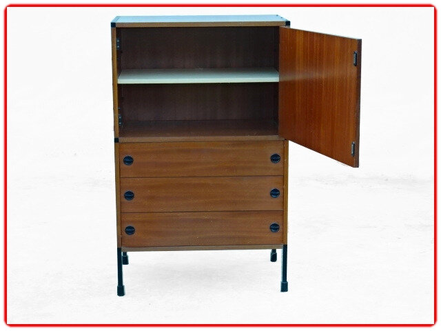 Armoire commode Vintage Guariche Motte Mortier