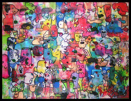 14_Personnages et animaux_Cache-cache peinture (186)encadré