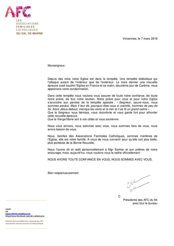 Lettre Card Barbarin mars 2019