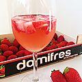 Rosé aux fraises