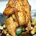 Chicken on beer can!