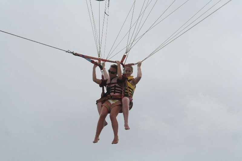 Il faut guider le parachute pour être dans l'axe