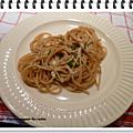 Spaghettis sauce au camembert