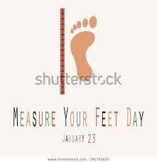 """Résultat de recherche d'images pour """"measure your feet day"""""""