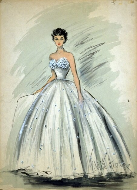 Edith Head pour Liz Taylor