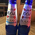 Mon test 1664 blanc et 1664 blanc sans alcool ... #1664blanc et #1664blancblindtest @sampleo !