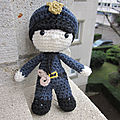 Test crochet - felton in police costume...