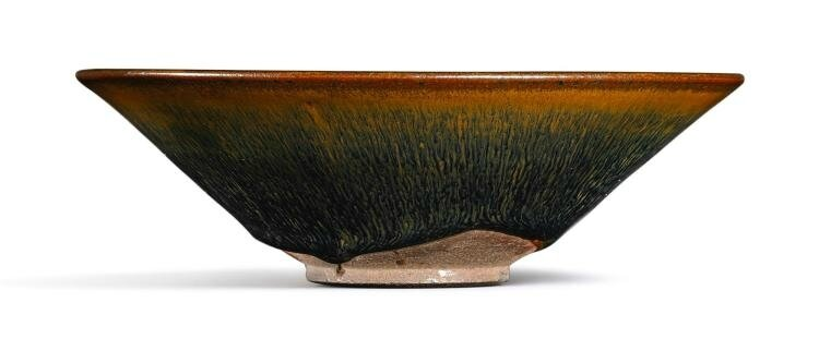 A 'Nogime Temmoku' conical bowl, Song dynasty (960-1279)