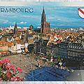 Strasbourg - place Kléber et la cathédrale