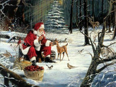 Santa_Claus_forest_friends