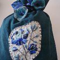 pochon fleur bleue