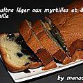 Cake ultra léger aux myrtilles et à la vanille