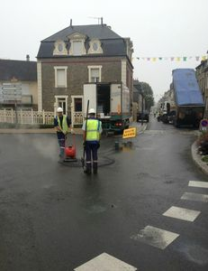 Tour de France 2013 Avranches travaux voirie