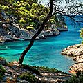 Calanque de Port Pin, une mer bleu turquoise