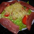 Salade aux graines germées d'alfalfa (de la luzerne dans mon assiette...)