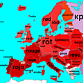 How to Say 'red' in Europe with etymology
