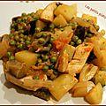 Wok de légume et poulet