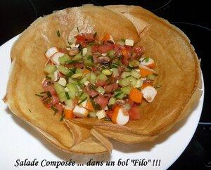 Salade composée bol filo