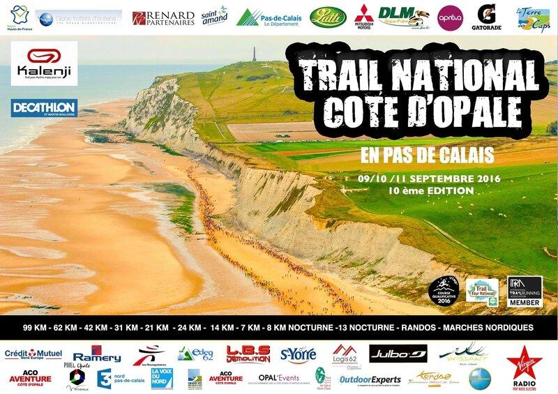 Affiche Trail Cote d'Opale 2016