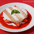 Marjolaine feuilletée aux fraises (ou framboises) d'après georges blanc