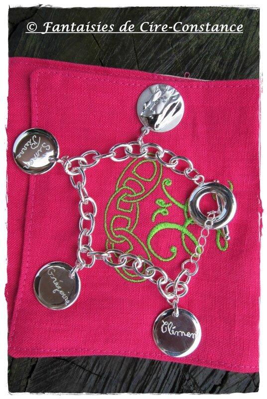 bracelet argent massif Vierge enfants-1