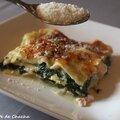 Lasagnes au poulet, épinards et gorgonzola