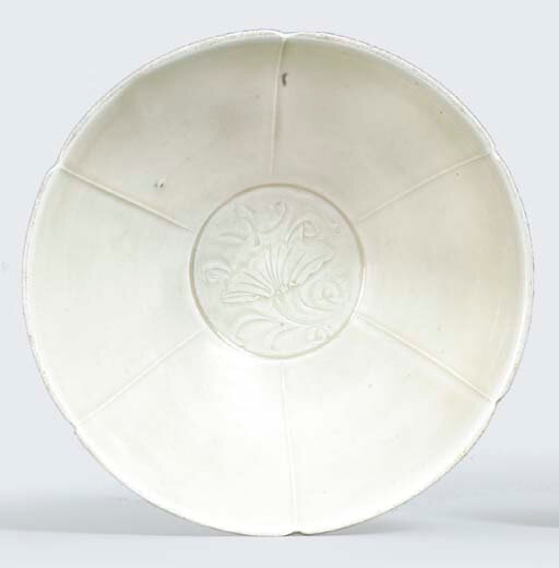 A Ding ware hexafoil bowl, Song dynasty (960-1279)