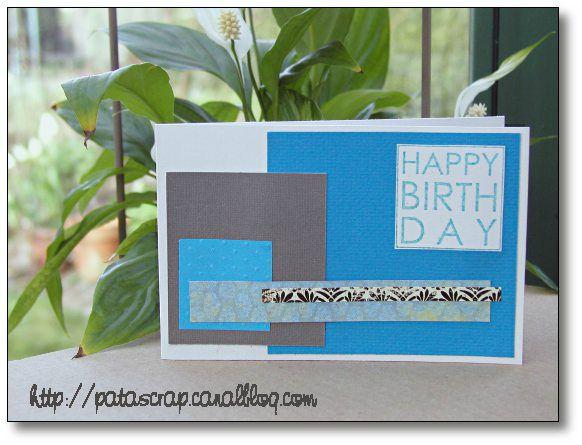 carte cubique bleue