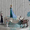 Gateau d'anniversaire de la reine des neige