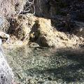 La source d'eau claire du ravin de Verroux