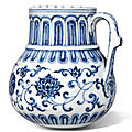 An outstanding blue and white tankard, mark and period of xuande (1426-1435)