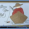 Carte iris folding pêcheur