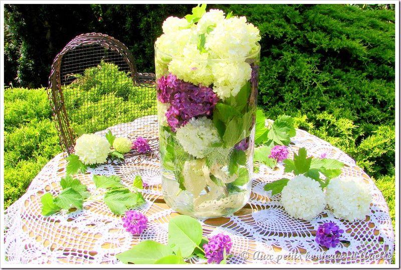 Bouquet de boule de neige et lilas (4)