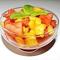 Salade de melon et de pastèque au muscat