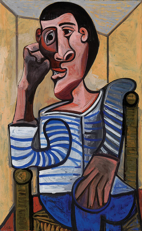 Pablo Picasso, Le Marin, 28 October 1943, oil on canvas. Estimated in the region of $70 million. © 2018 Estate of Pablo Picasso / Artists Rights Society (ARS), New York