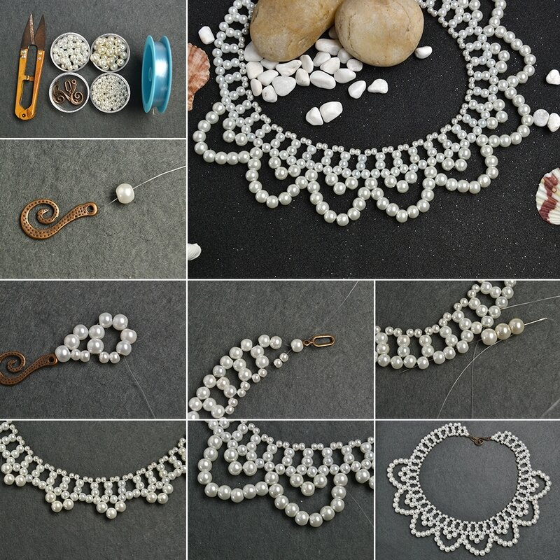 1080-PandaHall-Tutorial-on-How-to-Make-a-Delicate-Pearl-Bead-Flower-Choker-Necklace