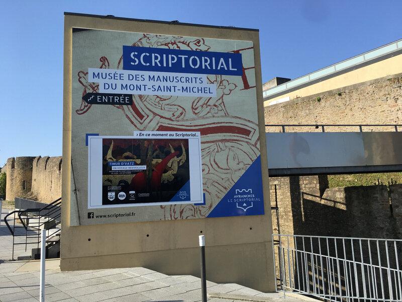 Scriptorial_Avranches_musée_manuscrits_Mont-Saint-Michel_exposition_Timur D'Vast_2019_expo_entrée