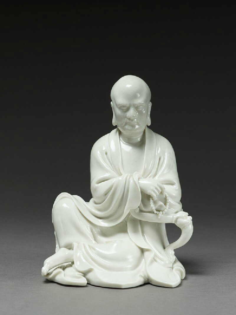 Seated figure of the buddhist disciple Lohan, Ming Dynasty (1368 - 1644)